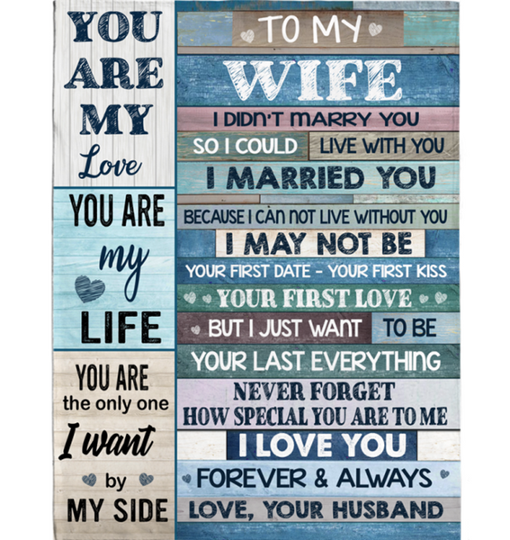 Personalized To My Wife I Married You Not Live Without You Special Love Forever Always Gift From Husband Fleece Blanket