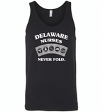 Delaware Nurses Never Fold Play Cards - Canvas Unisex Tank