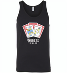 Nurse Go All In RN Play Cards Funny Tee - Canvas Unisex Tank