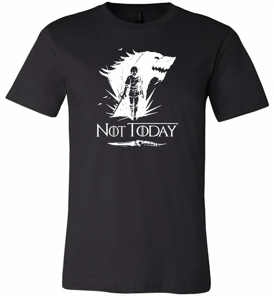Air Arya Not Today Stark Got - Canvas Unisex USA Shirt