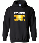 Jeep sisters forever tee, girls love jeep - Gildan Heavy Blend Hoodie