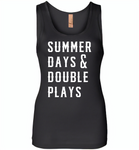 Summer days and double plays Tee shirt - Womens Jersey Tank