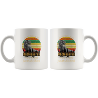 Don't mess with unclesaurus you'll get jurasskicked funny white gift coffee mugs