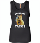 The cat bring me tacos goose - Womens Jersey Tank