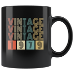 Vintage 1979 birthday black gift coffee mug
