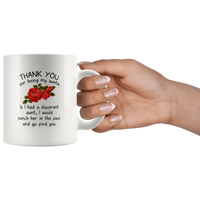 Thank You For Being My Auntie I Punch Other Funny Gift For Aunt Women White Coffee Mug