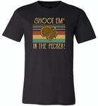 Shoot em in the pecker turkey hunting hunter - Canvas Unisex USA Shirt