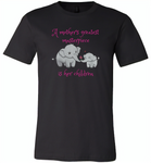 A mother's greatest masterpiece in her children elephant mom and baby - Canvas Unisex USA Shirt