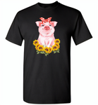 Sunflowers pig - Gildan Short Sleeve T-Shirt