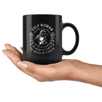 July Woman The Soul Of A Witch The Fire Lioness The Heart Hippie The Mouth Sailor gift black coffee mugs