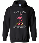 Auntimingo like normal aunt but more fabulous flamingo version - Gildan Heavy Blend Hoodie