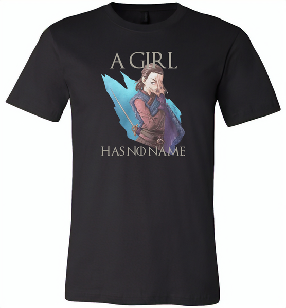 Air Arya a girl has no name stark got - Canvas Unisex USA Shirt