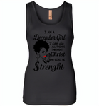 I Am A December Girl I Can Do All Things Through Christ Who Gives Me Strength - Womens Jersey Tank