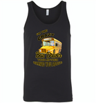 I'm the crazy bus driver your mother warned you about - Canvas Unisex Tank