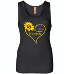 Sunflower heart Jesus it's not religion it's a relationship - Womens Jersey Tank
