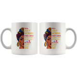 July woman three sides quiet, sweet, funny, crazy, birthday black gift coffee mugs