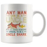 Someone special to be an Uncle shark vintage gift white coffee mugs