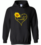 Sunflower heart Jesus it's not religion it's a relationship - Gildan Heavy Blend Hoodie