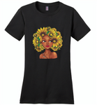 Black girl has natural sunflower hair, sunflower lover - Distric Made Ladies Perfect Weigh Tee