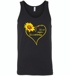 Sunflower heart Jesus it's not religion it's a relationship - Canvas Unisex Tank