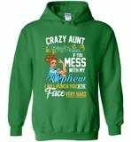Crazy aunt i'm beauty grace if you mess with my nephew i punch in face hard - Gildan Heavy Blend Hoodie