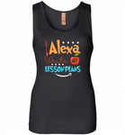 Alexa Write My Lesson Plans Teacher - Womens Jersey Tank