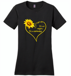 Sunflower heart Jesus it's not religion it's a relationship - Distric Made Ladies Perfect Weigh Tee
