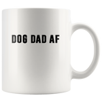 Dog dad af father's day gift white coffee mug