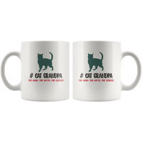 Cat grandpa the man the myth the legend, white gift coffee mugs for grandpa