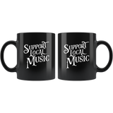 Support Local Music Black Coffee Mug