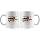 Guitar Here Comes The Sun Guitar Lover White Coffee Mug