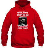 Walk Away I Am A Grumpy Old Man Born In December Have Anger Issues Dislike For Stupid People Tee Shirt