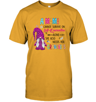 A Mimi Cannot Survive On Self Quarantine Alone She Also Needs Her Grandkids Gnome Quarantine Mom Mothers Day Gift T Shirt