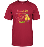 December Girls are not fragile like a flower we are fragile like a bomb colorful birthday tee shirt