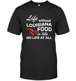 Life Without Louisiana Food Is Like No Life At All Lobster T Shirt