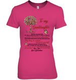To My Granddaughter Personalized T Shirts I Love You Gift From Grandma White Tee Shirt