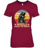 Momzilla Mother Of The Monsters Retro Vintage Funny Mothers Day Gift For Mom Wife Women T Shirt