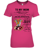Veteran To My Mom I Know It's Not Easy For A Woman To Raise A Child Son Gift For Mothers Day T Shirts