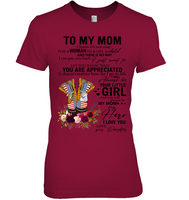 Air Force To My Mom I Know It's Not Easy For A Woman To Raise A Child Daughter Gift For Mothers Day T Shirts
