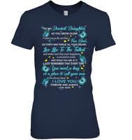 To My Dearest Daughter I Love You Personalized T Shirts Gift From Mom Mother Butterfly Black Tee