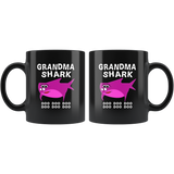Grandma shark doo doo doo, mother's day white gift coffee mugs