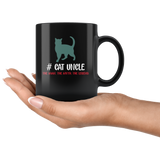 Cat uncle the man the myth the legend black gift coffee mug