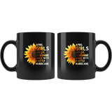 Sunflower April girls are sunshine mixed with a little Hurricane Birthday gift, born in April, black coffee mug