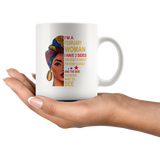 February woman three sides quiet, sweet, funny, crazy, birthday black gift coffee mugs