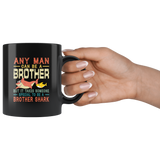 Vintage someone special to be a Brother shark black coffee mug, gift for brother