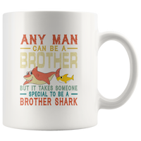 Vintage Someone special to be a Brother shark white coffee mugs, gift for brother