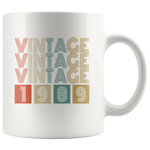 Vintage 1989 birthday white gift coffee mug