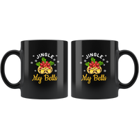 Jingle My Bells Christmas Xmas Gift Black Coffee Mug