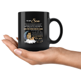 To My Son I Want You To Believe Deep In Your Heart Love Mom Gift For Son Lion Black Coffee Mug