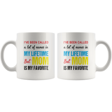 A lot of names in mylife but mom is my favorite coffee mugs, mother's day gift funny
